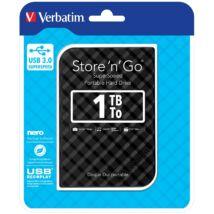 VERBATIM USB 3.0 HDD 2,5 STORE N GO G2 1TB FEKETE