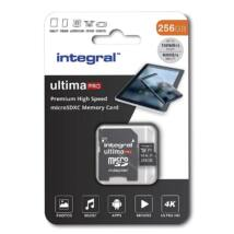 INTEGRAL ULTIMA PRO MICRO SDXC 256GB + ADAPTER CLASS 10 UHS-I U3 A1 V30 100/90 MB/s