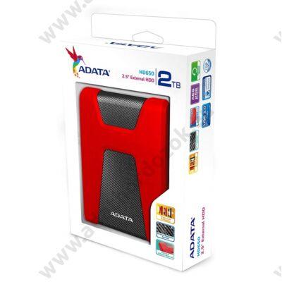 ADATA HD650 2,5 COL USB 3.1 KÜLSŐ MEREVLEMEZ 2TB PIROS