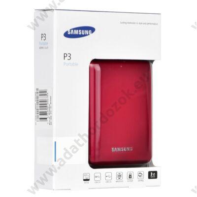 SAMSUNG P3 PORTABLE 2,5 COL USB 3.0 KÜLSŐ MEREVLEMEZ 500GB BORDÓ