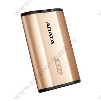 ADATA SE730H 1,8 COL USB 3.1 TYPE-C KÜLSŐ SSD MEGHAJTÓ 256GB ARANY
