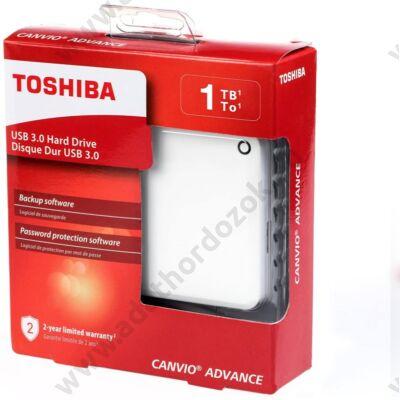 TOSHIBA CANVIO ADVANCE 2,5 COL USB 3.0 KÜLSŐ MEREVLEMEZ 1TB FEHÉR