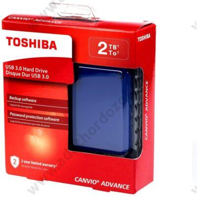 TOSHIBA CANVIO ADVANCE 2,5 COL USB 3.0 KÜLSŐ MEREVLEMEZ 2TB KÉK