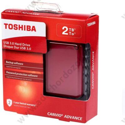 TOSHIBA CANVIO ADVANCE 2,5 COL USB 3.0 KÜLSŐ MEREVLEMEZ 2TB PIROS