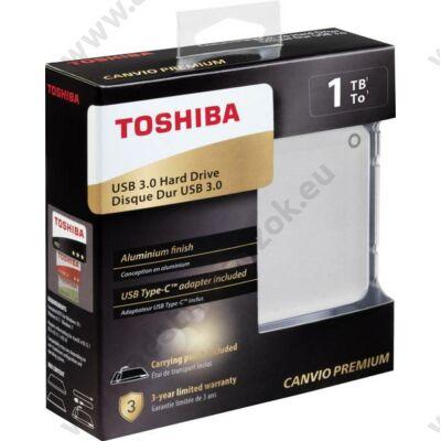 TOSHIBA CANVIO PREMIUM 2,5 COL USB 3.0 KÜLSŐ MEREVLEMEZ 1TB EZÜST