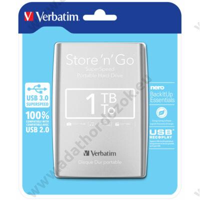 VERBATIM USB 3.0 HDD 2,5 STORE N GO 1TB EZÜST
