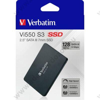 VERBATIM Vi550 S3 2,5 COL MÉRETÚ SATA III 560/430 MB/s 7mm SSD MEGHAJTÓ 128GB