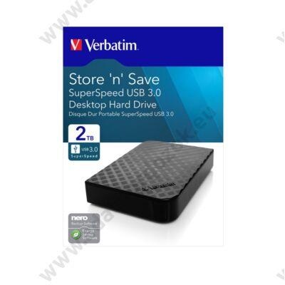 VERBATIM STORE N SAVE 3,5 COL USB 3.0 KÜLSŐ MEREVLEMEZ 2TB