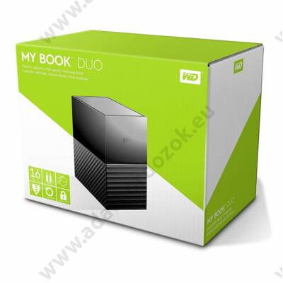 WESTERN DIGITAL MY BOOK DUO 3,5 COL USB 3.0 KÜLSŐ MEREVLEMEZ 16TB