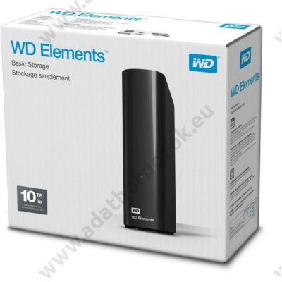 WESTERN DIGITAL ELEMENTS DESKTOP 3,5 COL USB 3.0 KÜLSŐ MEREVLEMEZ 10TB FEKETE