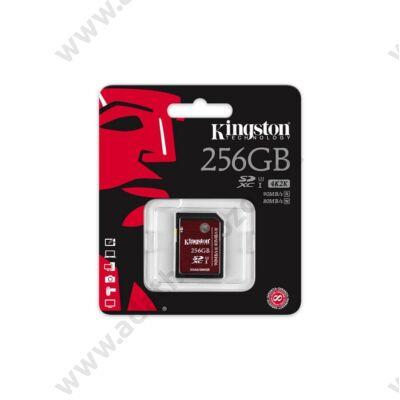 KINGSTON SDXC 256GB CLASS 10 UHS-I U3 90 MB/s OLVASÁSI - 80 MB/s ÍRÁSI SEBESSÉG