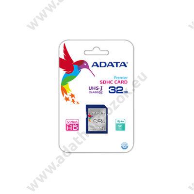 ADATA 32GB SDHC CLASS 10 UHS-I (50MB/s OLVASÁSI 10MB/s ÍRÁSI SEBESSÉG)