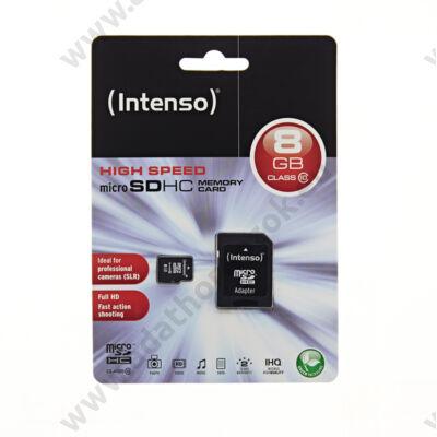 INTENSO MICRO SDHC 8GB + ADAPTER CLASS 10