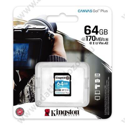 KINGSTON CANVAS GO PLUS SDXC 64GB CLASS 10 UHS-I U3 A2 V30 170/70 MB/s
