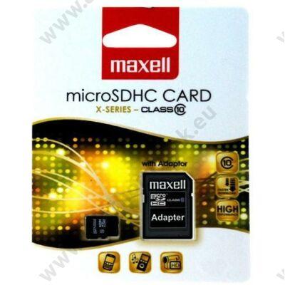 MAXELL MICRO SDHC 32GB + ADAPTER CLASS 10