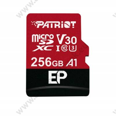 PATRIOT EP MICRO SDXC 256GB + ADAPTER CLASS 10 UHS-I U3 A1 V30 100/80 MB/s