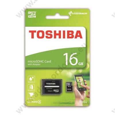 TOSHIBA MICRO SDHC 16GB + ADAPTER CLASS 4