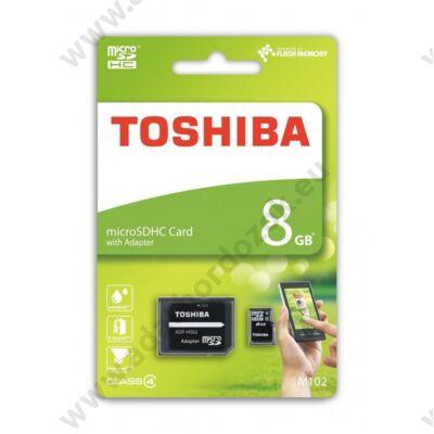 TOSHIBA MICRO SDHC 8GB + ADAPTER CLASS 4