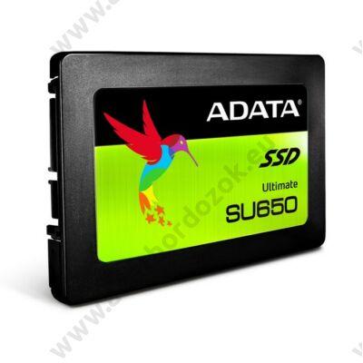 ADATA SU650 120GB 2,5 COL MÉRETŰ SATA III SSD MEGHAJTÓ