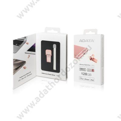 ADATA AI920 I-MEMORY USB 3.1/APPLE LIGHTNING PENDRIVE 128GB ROZÉ ARANY