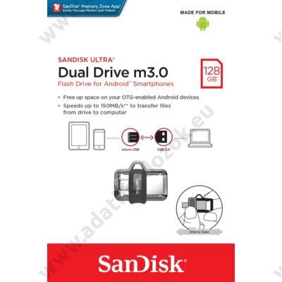 SANDISK USB 3.0 PENDRIVE ULTRA DUAL M3.0 OTG USB/MICROUSB 128GB