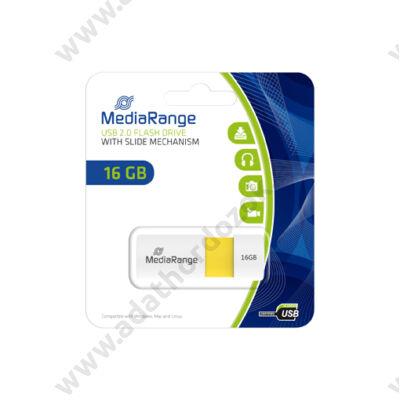 MEDIARANGE USB 2.0 PENDRIVE COLOR EDITION 16GB SÁRGA MR972