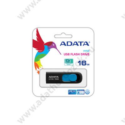ADATA USB 3.0 DASHDRIVE CLASSIC UV128 16GB FEKETE/KÉK