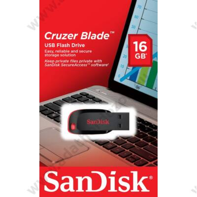 SANDISK USB 2.0 CRUZER BLADE PENDRIVE 16GB FEKETE