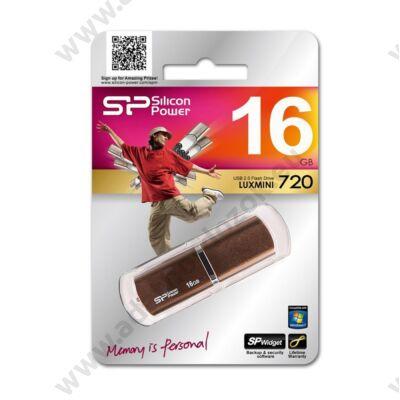SILICON POWER LUXMINI 720 USB 2.0 PENDRIVE 16GB BRONZ
