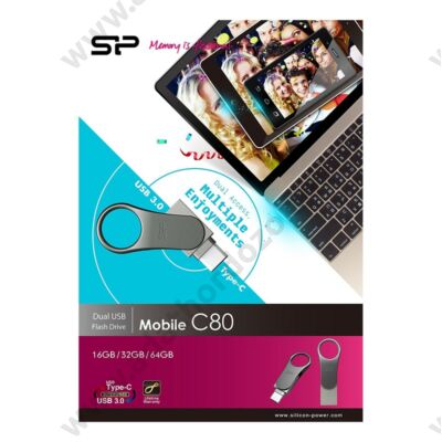 SILICON POWER MOBILE C80 USB 3.0/USB TYPE-C PENDRIVE 16GB