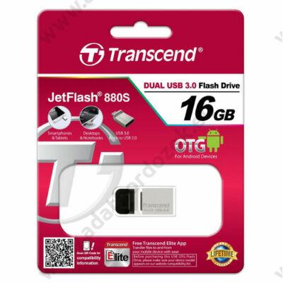 TRANSCEND USB 3.0 OTG PENDRIVE JETFLASH 880S 16GB