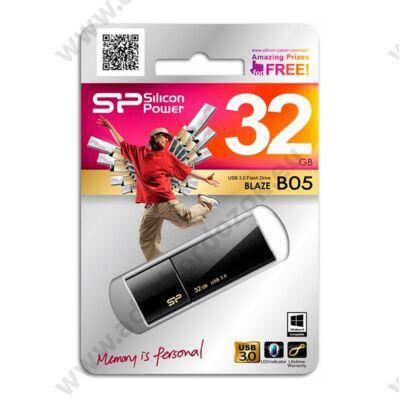 SILICON POWER BLAZE B05 USB 3.0 PENDRIVE 32GB FEKETE