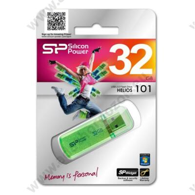 SILICON POWER HELIOS 101 USB 2.0 PENDRIVE 32GB ZÖLD