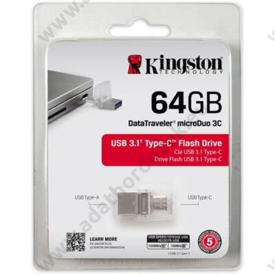 KINGSTON USB 3.1 DATATRAVELER MICRODUO 3C 64GB