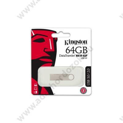 KINGSTON USB 3.0 DATATRAVELER SE9 G2 EZÜST 64GB