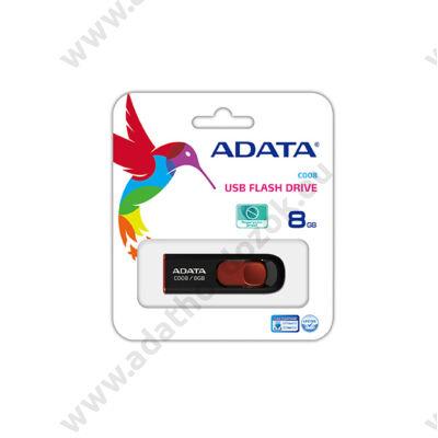 ADATA USB 2.0 PENDRIVE CLASSIC C008 8GB FEKETE/PIROS