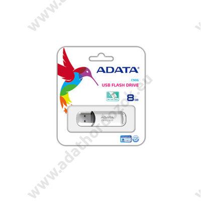 ADATA USB 2.0 PENDRIVE CLASSIC C906 8GB FEHÉR