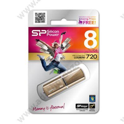 SILICON POWER LUXMINI 720 USB 2.0 PENDRIVE 8GB BRONZ