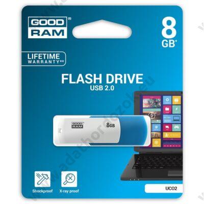 GOODRAM UCO2 USB 2.0 PENDRIVE 8GB KÉK/FEHÉR