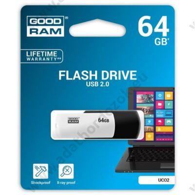 GOODRAM UCO2 USB 2.0 PENDRIVE 64GB FEKETE/FEHÉR