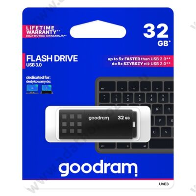 GOODRAM UME3 USB 3.0 PENDRIVE 32GB FEKETE