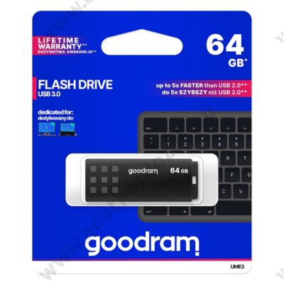 GOODRAM UME3 USB 3.0 PENDRIVE 64GB FEKETE