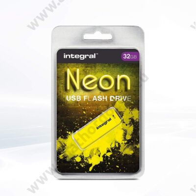 INTEGRAL NEON USB 2.0 PENDRIVE 32GB SÁRGA