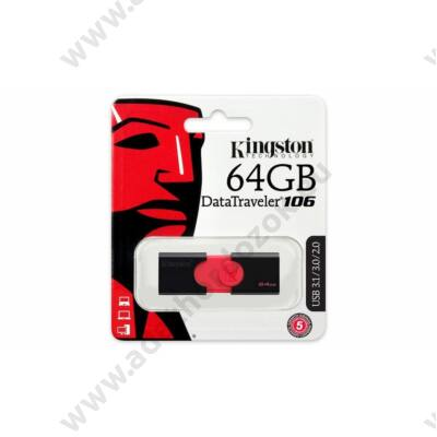 KINGSTON USB 3.0 PENDRIVE DATATRAVELER 106 64GB