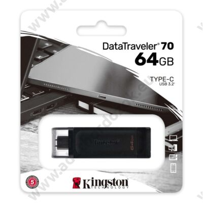 KINGSTON DATATRAVELER 70 USB-C 3.2 GEN 1 PENDRIVE 64GB