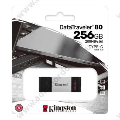 KINGSTON DATATRAVELER 80 USB-C 3.2 GEN 1 PENDRIVE 256GB