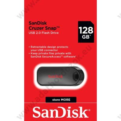 SANDISK USB 2.0 CRUZER SNAP PENDRIVE 128GB FEKETE