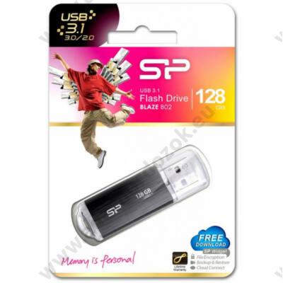 SILICON POWER BLAZE B02 USB 3.1 PENDRIVE 128GB FEKETE