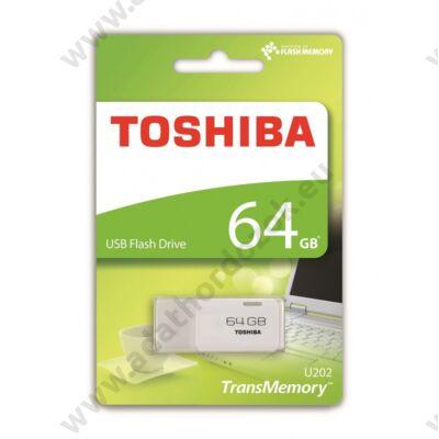 TOSHIBA U202 USB 2.0 PENDRIVE 64GB FEHÉR