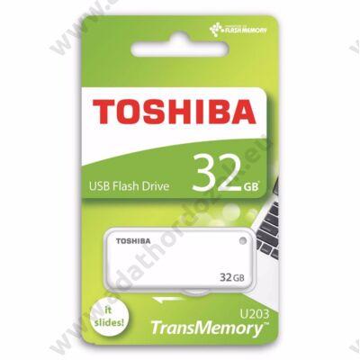 TOSHIBA U203 USB 2.0 PENDRIVE 32GB FEHÉR